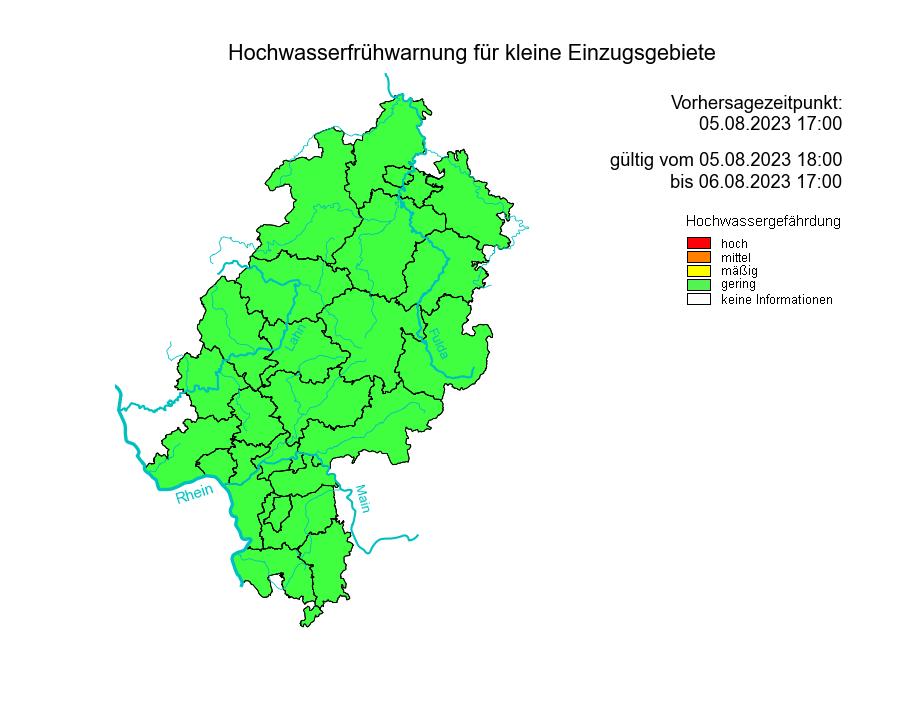 Hochwasserfrühwarnung für kleine Einzugsgebiete.
